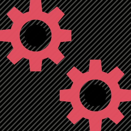 gears, online, setup, web icon