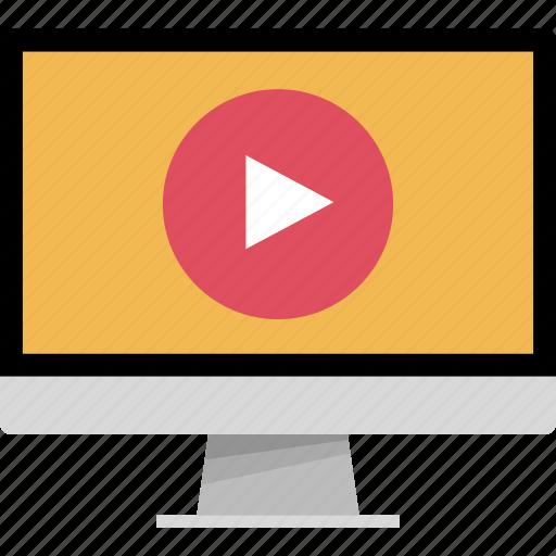 computer, monitor, online, web icon
