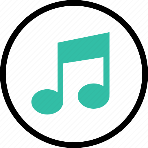 music, note, online, web icon