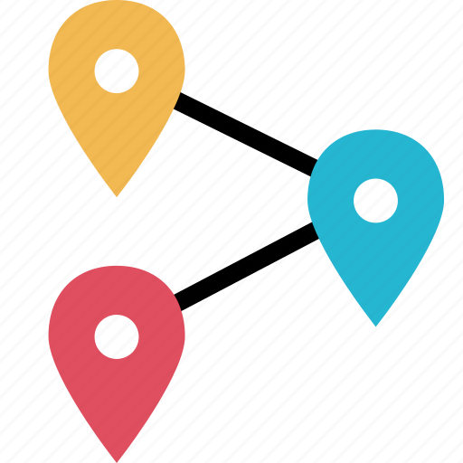 gps, online, three, web icon