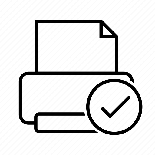 connect, printer, random icon