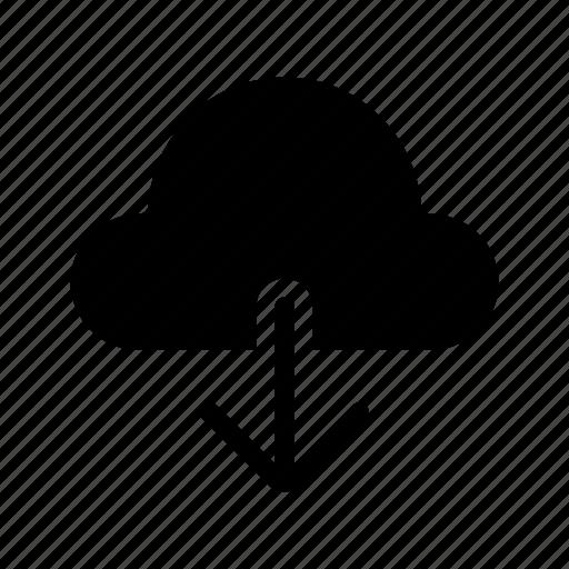 arrows, cloud, download, file, storage icon