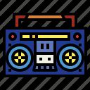 boombox, music, radio, sound