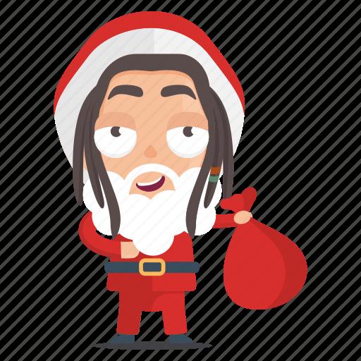 Emoji Emoticon Man Rasta Santa Sticker Icon Download On Iconfinder