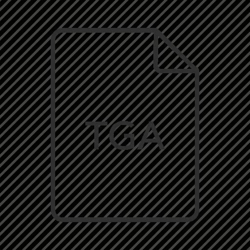 targa graphic, tga document, tga file, tga file icon, tga format, tga icon, truevision graphics adapter icon