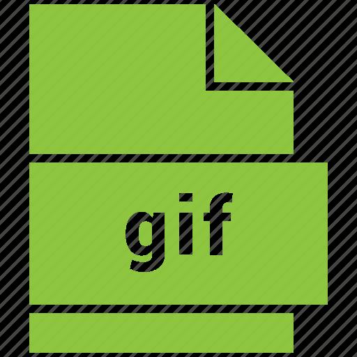 file, gif, image, raster image file format icon