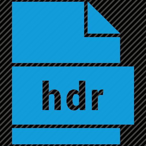 hdr, raster image file format icon
