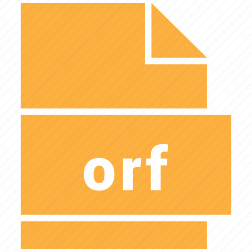 extension, file, format, hovytech, orf, raster, raster image file format icon