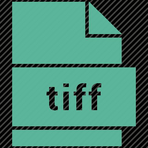 document, file, filetype, raster image file format, tiff icon