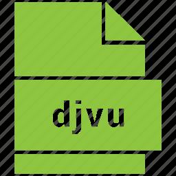 djvu, document, file, raster image file format icon