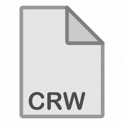 crw, extension, file, format, hovytech, raster, type icon