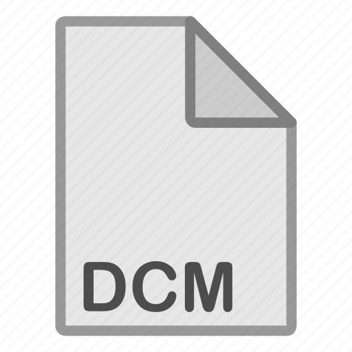 dcm, extension, file, format, hovytech, raster, type icon