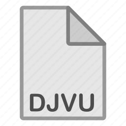 djvu, extension, file, format, hovytech, raster, type icon