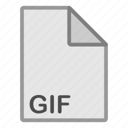 extension, file, format, gif, hovytech, raster, type icon