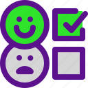 classification, feedback, happy, rank icon