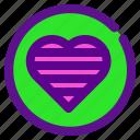classification, heart, like, rank icon