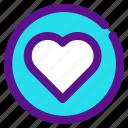 classification, heart, inactive, like, rank icon