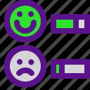 classification, level, rank, smile icon