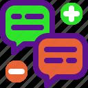 classification, message, rank icon