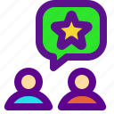 classification, rank, rate, send icon