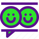classification, feedback3, rank, smile, user icon