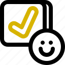 approve, classification, rank icon