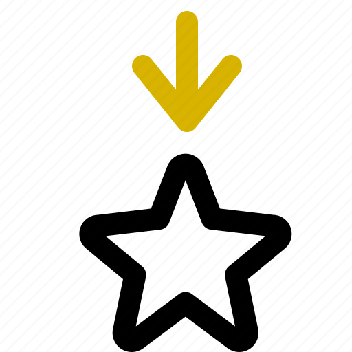 classification, decrease, rank icon