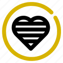classification, heart, like, rank icon