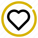 classification, heart, inactive, like, rank icon