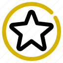 classification, fav, inactive, rank, star icon