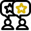 classification, rank, rate, star icon