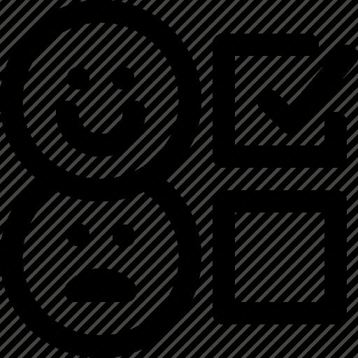 classification, feedback, happy, rank icon