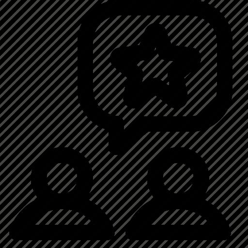 classification, rank, rate, send icon