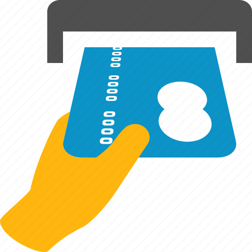 atm, bank, buy, credit, hand, insert, payment icon