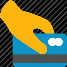 atm, bank, card, credit, hand, pay, visa icon
