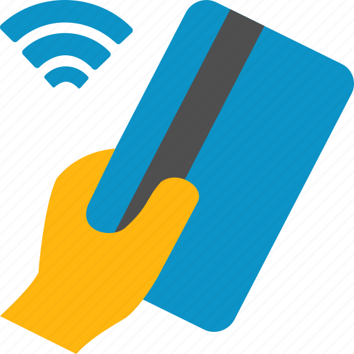 card, credit, hand, pass, pay, payment, wireless icon