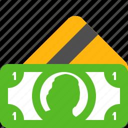 bank, card, cash, credit, dollar, dollars, money icon
