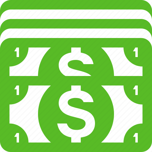cash, currency, dollar, dollar bill, dollar bills, dollars, money icon