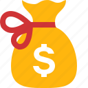 bag, banking, dollar, finance, financial, money, money bag icon