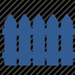 fence, fencing, garden, gardering, hedge, railing icon