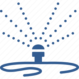 garden, gardening, hose, hosepipe, sprayer, sprinkler, water icon