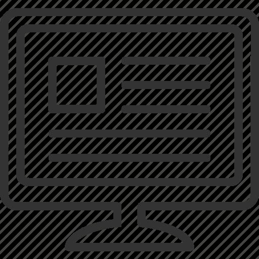 monitor, news icon