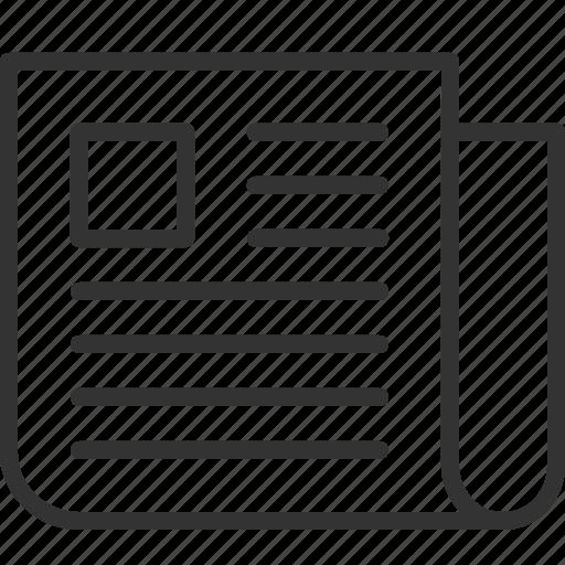 headline, news, newspaper, publication icon