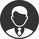 circle, round, user icon