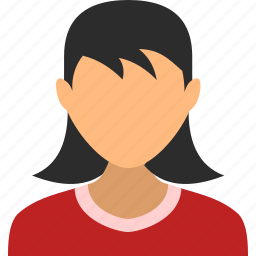 account, child, girl, profile, user, users, woman icon