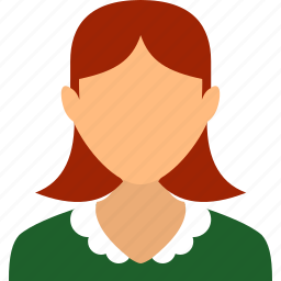 account, girl, maid, people, user, waiter, woman icon