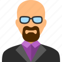 businessman, heisenberg, human, man, professor, teacher, user icon