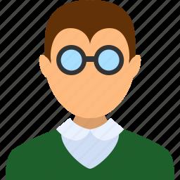 account, boy, learner, man, schoolboy, student, user icon