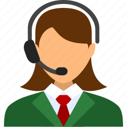 account, female, girl, operator, support, user, woman icon