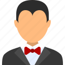 account, avatar, male, man, steward, user, waiter icon